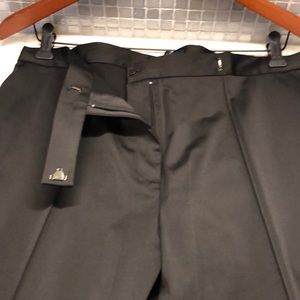 Tuxedo Pants with bedazzled strip down both legs